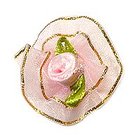Цветы пришивные 1-203 розовый