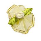 Цветы пришивные 1-203 св.желтый