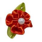Цветы пришивные 1-24 красный
