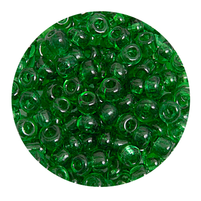 Бисер крупный Тайвань (уп. 10 г) 0007В зеленый прозрачный в интернет-магазине Швейпрофи.рф
