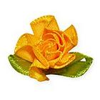 Цветы пришивные 1-25 желтый