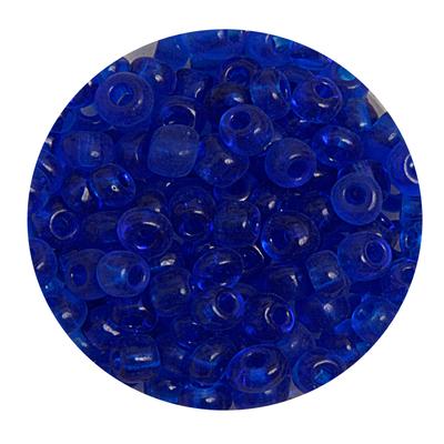 Бисер крупный Тайвань (уп. 10 г) 0008 синий прозрачный в интернет-магазине Швейпрофи.рф