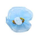 Цветы пришивные 1-80 голубой