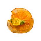 Цветы пришивные 1-80 оранжевый