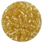 Бисер крупный Тайвань (уп. 10 г) 0022 золотистый с серебр. центром