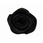 Цветы пришивные К-9081 розочка 1,9 см 030 черный