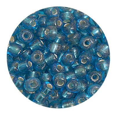 Бисер крупный Тайвань (уп. 10 г) 0023В голубой с серебр. центром в интернет-магазине Швейпрофи.рф