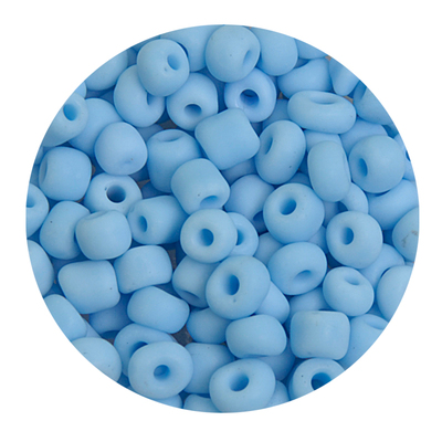 Бисер крупный Тайвань (уп. 10 г) 0043 голубой матовый в интернет-магазине Швейпрофи.рф