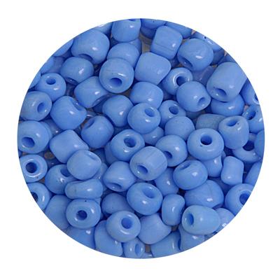 Бисер крупный Тайвань (уп. 10 г) 0043В св.-синий матовый в интернет-магазине Швейпрофи.рф