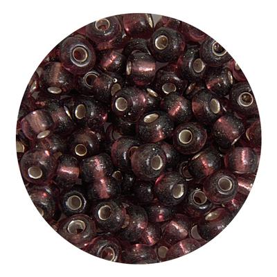 Бисер крупный Тайвань (уп. 10 г) 0056 розово-коричневый с серебр. центром в интернет-магазине Швейпрофи.рф