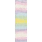 Пряжа Шекерим батик (Sekerim Batik), 100 г / 320 м, 2132 белый+розовый+голубой+желтый