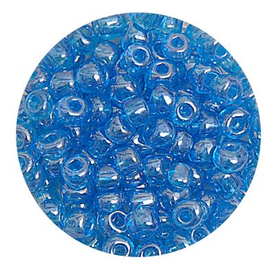 Бисер крупный Тайвань (уп. 10 г) 0103В голубой прозрачный в интернет-магазине Швейпрофи.рф