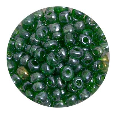 Бисер крупный Тайвань (уп. 10 г) 0107В зеленый прозрачный в интернет-магазине Швейпрофи.рф