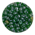 Бисер крупный Тайвань (уп. 10 г) 0107В зеленый прозрачный