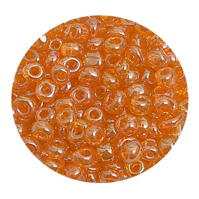 Бисер крупный Тайвань (уп. 10 г) 0109В оранжевый прозрачный в интернет-магазине Швейпрофи.рф
