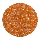 Бисер крупный Тайвань (уп. 10 г) 0109В оранжевый прозрачный