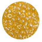 Бисер крупный Тайвань (уп. 10 г) 0110 жёлтый прозрачный