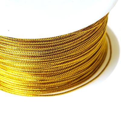 Шнур декор. 1 мм 0371-1000  (уп. 100 м)  442619 золото в интернет-магазине Швейпрофи.рф