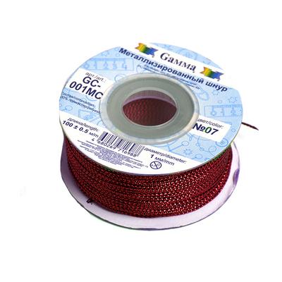 Шнур декор. GC-001МС 1 мм (уп. 100 м) №02 красный в интернет-магазине Швейпрофи.рф