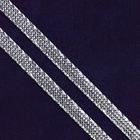 Шнур декор. люрекс AJD002 плоский (уп. 200 м) серебро