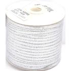 Шнур декор. люрекс AJD002 плоский (уп. 200 м) серебро в интернет-магазине Швейпрофи.рф