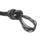 Шнур кожаный 3 мм «рептилия» (уп. 30 м) черно-серый