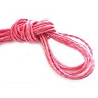 Шнур кожаный 3 мм «рептилия» (уп. 30 м) ярко-розовый
