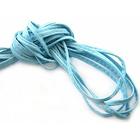 Шнур кожаный 3-4 мм (уп. 40,5 м) голубой