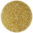 Бисер Тайвань (уп. 10 г) 0022 золотистый с серебр. центром