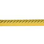 Шнур мебел. с ресницами 6 мм (уп. 25 м) св. золото