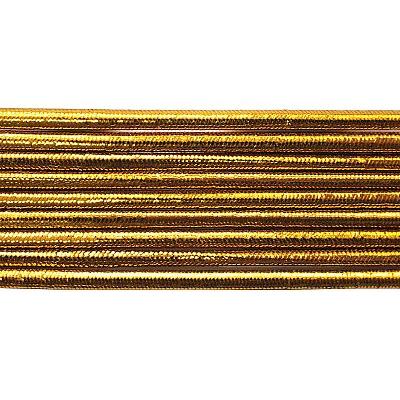 Шнур резиновый 2 мм  золото рул. 100 м в интернет-магазине Швейпрофи.рф