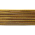 Шнур резиновый 2 мм  золото рул. 100 м