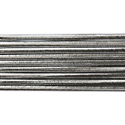 Шнур резиновый 2 мм  серебро рул.100 м в интернет-магазине Швейпрофи.рф
