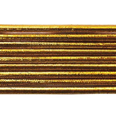 Шнур резиновый 2.5 мм золото Тур. рул. 100 м в интернет-магазине Швейпрофи.рф