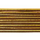 Шнур резиновый 2.5 мм золото Тур. рул. 100 м