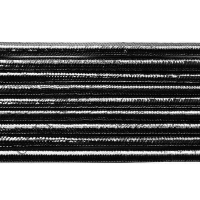 Шнур резиновый 2.5 мм серебро Тур. рул. 100 м в интернет-магазине Швейпрофи.рф