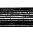 Шнур резиновый 2.5 мм серебро Тур. рул. 100 м