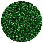 Бисер Тайвань (уп. 10 г) 0027В зеленый с серебр. центром