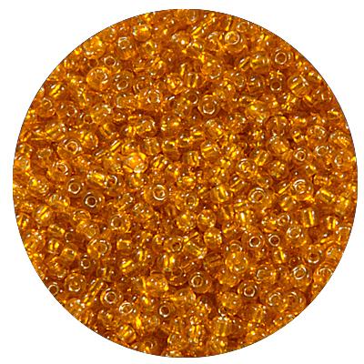 Бисер Тайвань (уп. 10 г) 0029В оранжевый с серебр. центром в интернет-магазине Швейпрофи.рф
