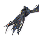 Шнурки Т-5 арт.859 10 мм 120 см звезда на черном