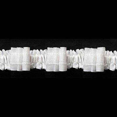 Шторная тесьма  30 мм (уп. 100 м) (красн. уп.) бел. в интернет-магазине Швейпрофи.рф