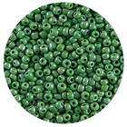 Бисер Тайвань (уп. 10 г) 0127 зеленый перламутровый