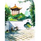 Алмазная мозаика Magic Stitch № 173 «Китайский дворик» 20*27 см