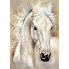 Алмазная мозаика Milato № 185  «Белый конь» 20*28 см