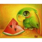 Алмазная мозаика АЖ-0368 «Попугай с арбузом»