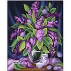 Алмазная мозаика АЖ-1629  «Роскошная сирень» 40*50 см
