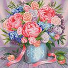 Алмазная мозаика АЖ-1655  «Милый букет» 40*40 см