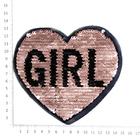 Аппликация пришивная УТ-67223 «Сердце Girl» с пайетками(7Б)