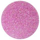 Бисер Тайвань (уп. 10 г) 0204 розовый с цветным радужным центром