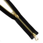 Молния TIT Т5 мет.  80 см (2 замка) золото/чёрный шлифованный